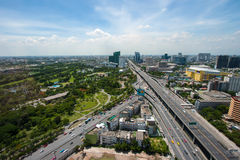 Bangkok Panorama view, Thailand. Royalty Free Stock Image