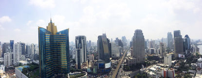 Bangkok-Panoramaansicht Stockbilder