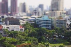 Bangkok park in miniature stock image