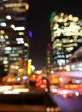 Bangkok pejzaż miejski przy mrocznym czasem, Zamazany fotografii bokeh obrazy stock