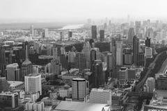 Bangkok pejzaż miejski Widok miasto od wysokiego budynku wewnątrz Zdjęcia Stock