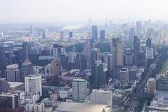 Bangkok pejzaż miejski Widok miasto od wysokiego budynku wewnątrz Fotografia Stock