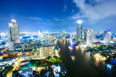 Bangkok a penombra Immagini Stock Libere da Diritti