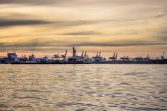 Bangkok port på morgonen Bangkok Thailand Royaltyfri Bild