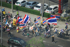 Bangkok protest Stock Image