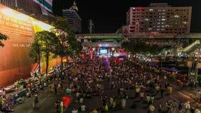 Bangkok protesteert Tijdtijdspanne stock footage