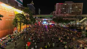 Bangkok protestiert Zeitspanne stock footage