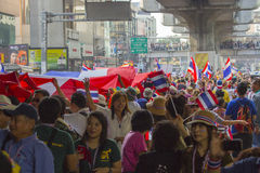 Bangkok protestläge i Thailand royaltyfri bild