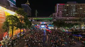 Bangkok Protests Time Lapse Royalty Free Stock Image