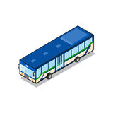 Bangkok public transportation blue aircondition bus isometric vi Royalty Free Stock Images
