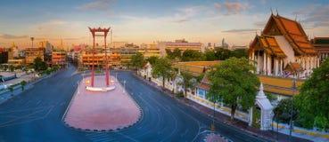 Bangkok röd gunga Arkivfoto