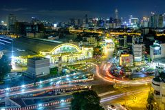 Bangkok Railway Station (Hua Lamphong Railway Station,MRT) At Ni Royalty Free Stock Image