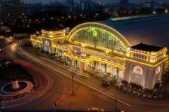 Bangkok Railway Station at night time,Bangkok, Thailand. Bangkok Railway Station Hua Lamphong Railway Station,MRT at night time,Bangkok, Thailand Stock Images
