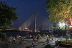Bangkok Rama VIII bridge at twilight time, Thailand Royalty Free Stock Images