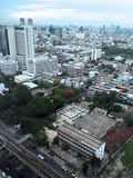 Bangkok ranku widok od Surasak Zdjęcie Royalty Free