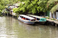 Bangkok River boats Stock Photo