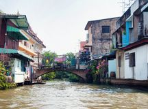 Bangkok river canal boondocks Stock Images