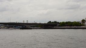Bangkok River stock footage