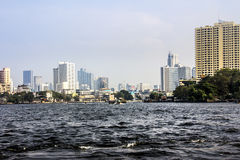 Bangkok from the river Stock Image