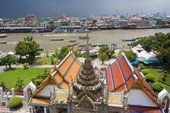 Bangkok river cityscape Stock Image