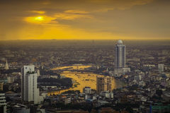 Bangkok, River of Life with Sunset Background. (Thailand Royalty Free Stock Images