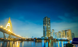 Bangkok River Night Royalty Free Stock Images