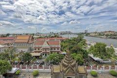 Bangkok river and skyline of Bangkok Stock Images