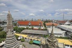 Bangkok river and skyline of Bangkok Stock Photography