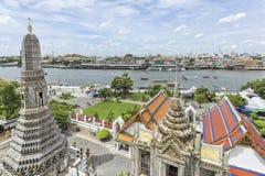 Bangkok river and skyline of Bangkok Stock Image