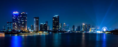 Bangkok river view form Krungthep Bridge Royalty Free Stock Photo