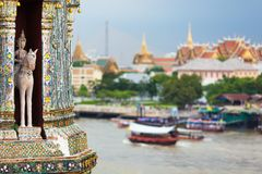 Bangkok river view Stock Photos