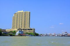 Bangkok Riverside Scene Royalty Free Stock Images