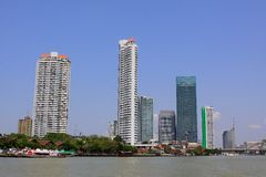 Bangkok Riverside Scene Royalty Free Stock Photo