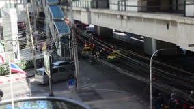 Bangkok road Time Lapse stock video