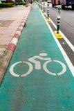 bangkok roweru pas ruchu Zdjęcie Royalty Free