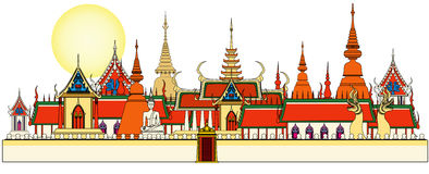 Bangkok royal palace Royalty Free Stock Images
