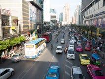 Bangkok ruch drogowy fotografia stock