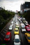 Bangkok rusningstid Arkivbild