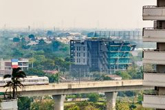 The Bangkok& x27;s Airport Rail Link, an express and commuter rail, l stock photos