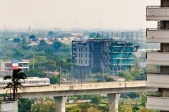 Bangkok& x27; s Lotniskowy połączenie kolejowe, poręcz, ekspresowy i dojeżdżający, l Zdjęcia Stock