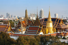 Bangkok's most famous. Landmark was built 1782. The palace conclud several impressive buildings including Wat Phra Kaeo (Temple of the Emerald Buddha) A royal Stock Photo