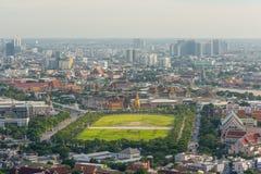 Bangkok Sanam Luang, Wat Phra Kaew and the grand palace Stock Image