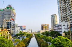 Bangkok sathorn road Royalty Free Stock Photography