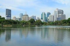 Bangkok scene from Lumpini park Stock Image