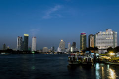 Bangkok scenery by night Stock Photos