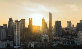 Bangkok scyscraperssikt royaltyfri fotografi