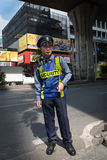 Bangkok security man in uniform on street Royalty Free Stock Photography