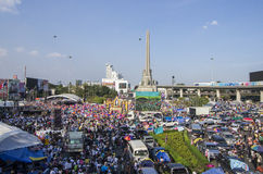 Bangkok Shutdown: Jan 13, 2014 Stock Photo