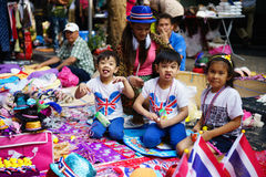 Bangkok Shutdown Stock Photo