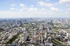 Bangkok sikt från Baiyoke torn II Arkivfoto